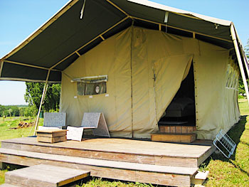 Luxurious safari tent at Simply Canvas