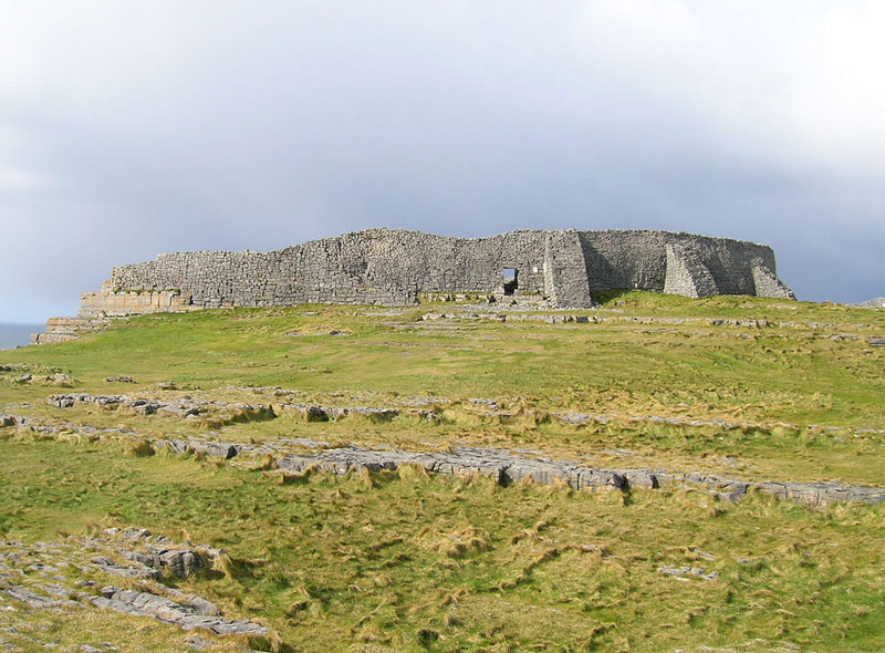 The fort at Dún Aonghasa on Inis Mór in Ireland