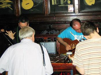 Irish music at Ti Joe Mac's in Irish music at Ti Joe Mac's in Cill Rónáin on the Aran Islands in Ireland