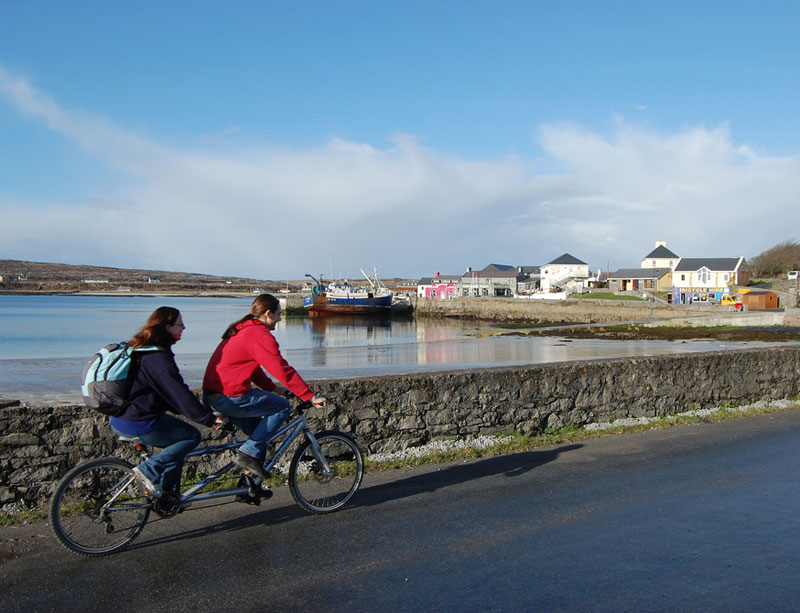 The easiest way to get around the island is by bike.