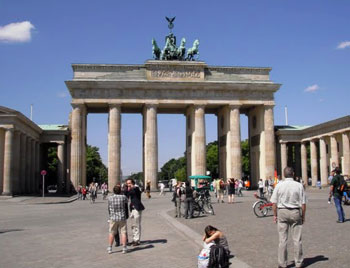 Berlin's iconic Brandenburg Gate. Photos by Gary Singh.