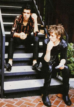 Nick Cave and Blixa Bargeld, sometime during the 1980s