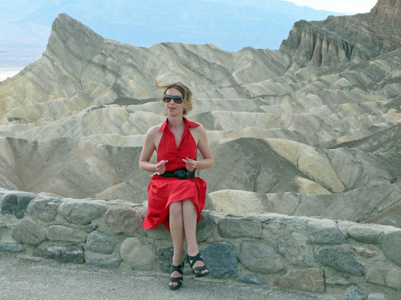 Zabriskie Point in Death Valley, California