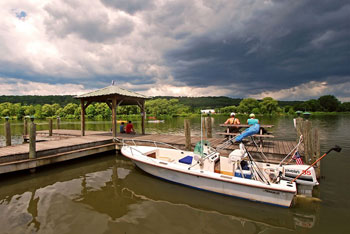 The Ithaca Farmer's Market opens out to this lovely dock by the Cayuga Lake.