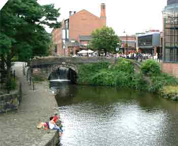 Canal in Deansgate, Manchester.
