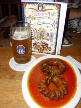 The German Hofbrauhaus restaurant and beer garden is one of the many places in the city that very ethnic cuisine and drink is offered.