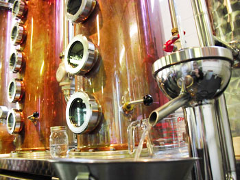 Locally produced vodka at the Milwaukee Great Lakes Distillery