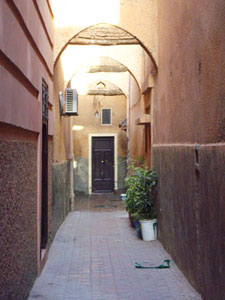 An alley in Marrakesh