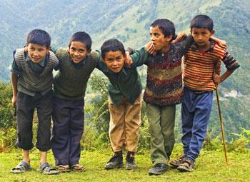 Playful boys of Didna