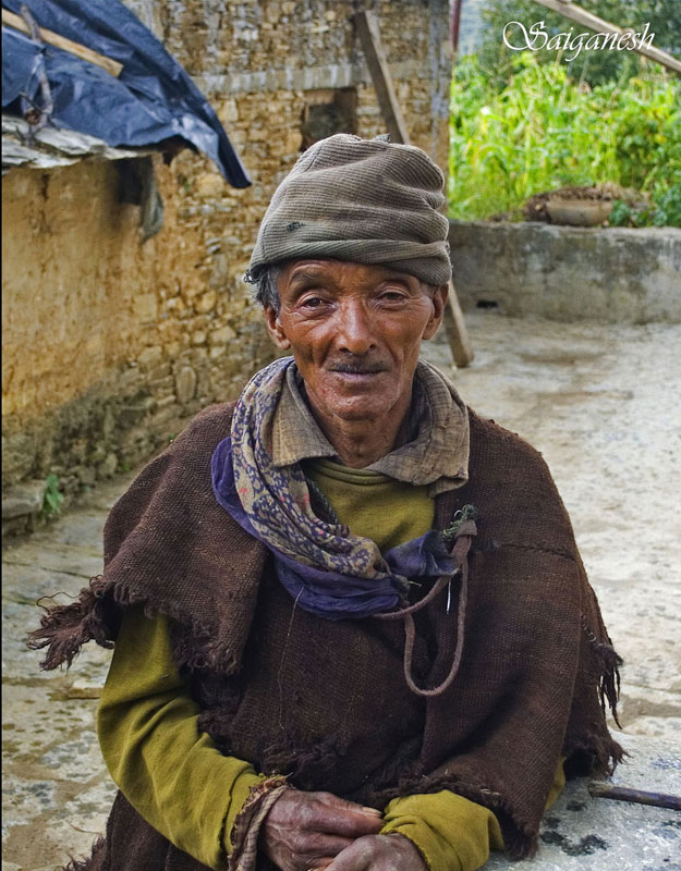 An old man in a Wan village