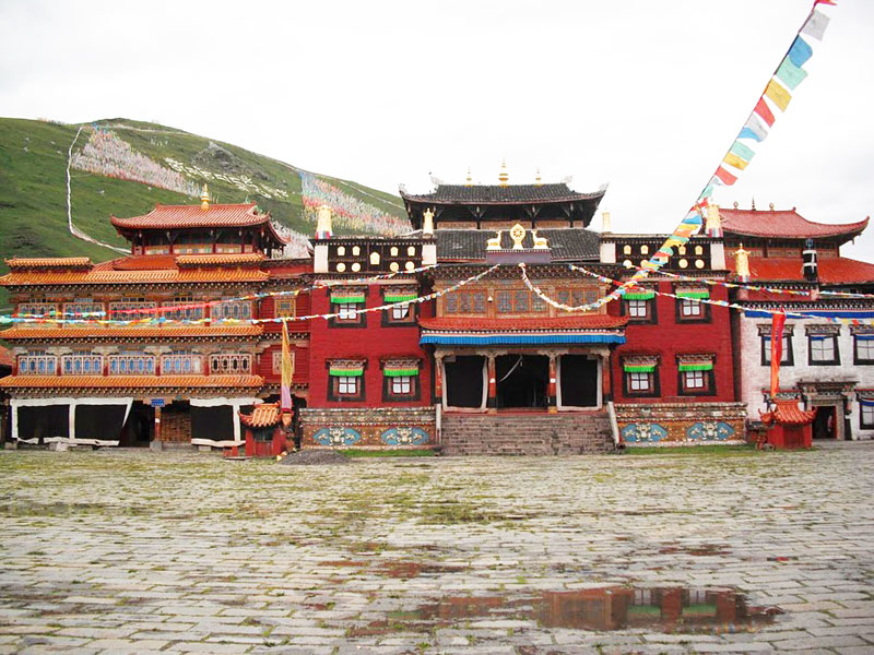 The main square of Tagong in China's Sichuan Province