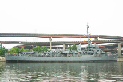 USS Slater viewed from Albany Aqua Duck Tour