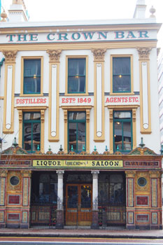 The famous Crown Bar in Belfast