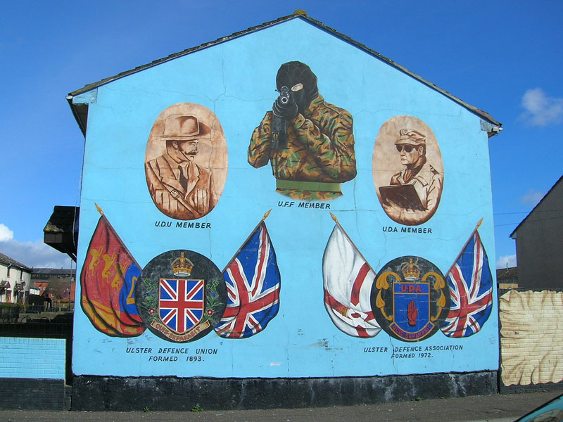 Famous Loyalist sniper mural in West Belfast