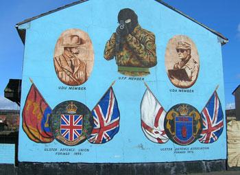 Famous Loyalist sniper mural in West Belfast