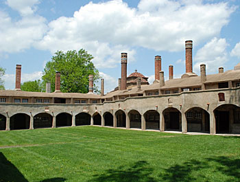 The cloister at the Moravian Tile Works