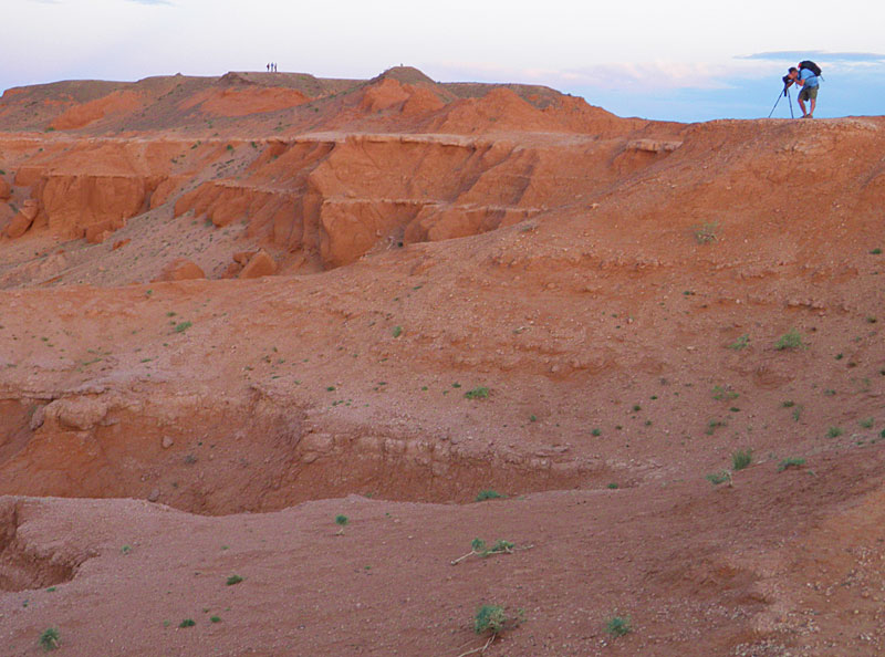 Photography at the Flaming Cliffs in Mongolia's Gobi Desert