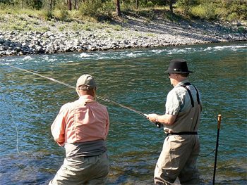 Trout fishing: no bites but a great day out!