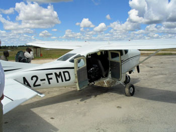 After a short 15 minute flight from Maun, we arrived on the camp's privately registered airstrip.