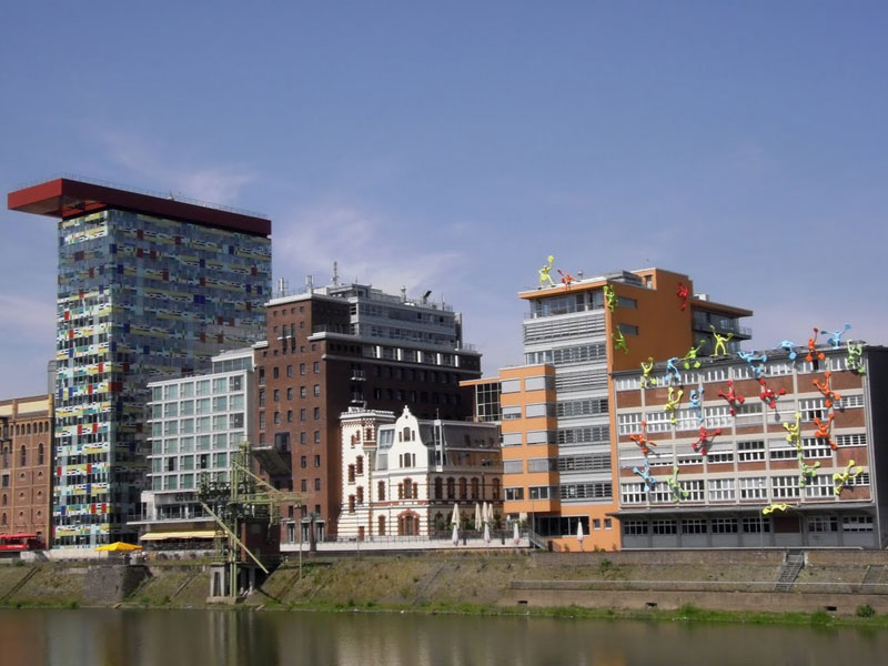 The beautifully incongruous Media Harbor in Dusseldorf