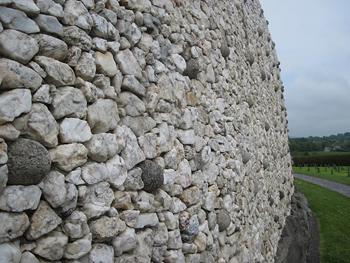 Newgrange stones. photo by Jean M. Spoljaric