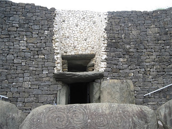 The entryway into the tomb of death at Newgrange.