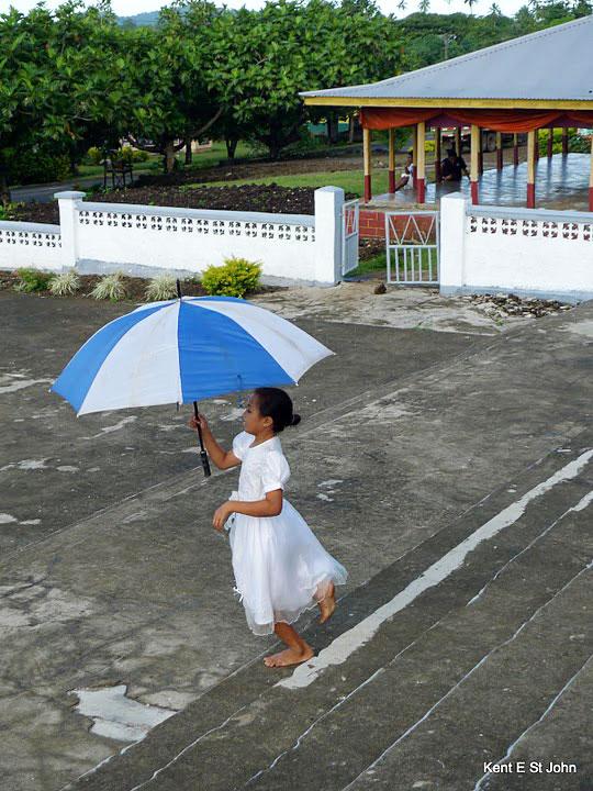 After Church in Savai'i, Samoa