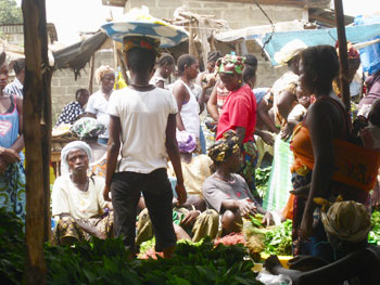 Market in Sierra Leone. photos by Marina Goldman.
