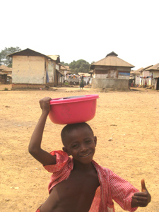 Village boy in Sierra Leone.