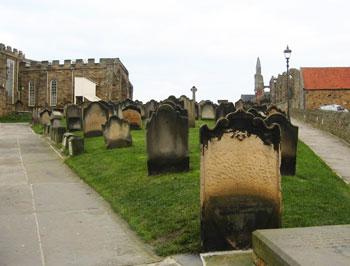 St. Mary's churchyard, the scene of Lucy's sleepwalking in Bram Stoker's Dracula. Photo by Steve Dettman.