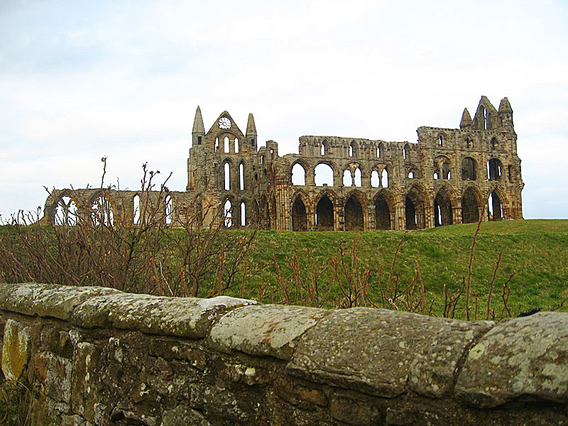Whitby Abbey, in Whitby, England