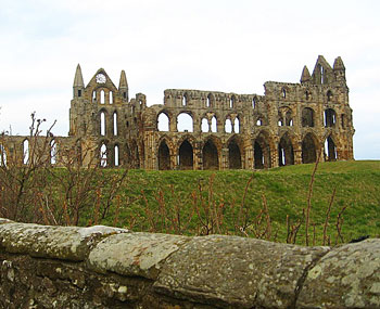 Whitby Abbey was a double monastery for men and women ruled over by the royal princess Abbess Hild. Its spectacular ruin hovers above the beaches and vacation cottages of Whitby. Photo by Kimberly Engber.