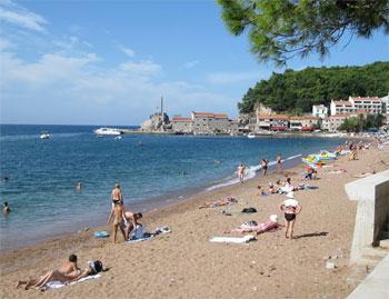 The beach at Petrovac Na Moru