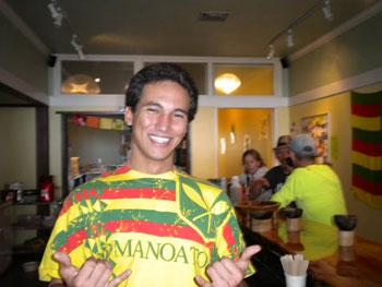The gracious Alan at Bayfront Kava Bar