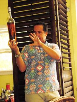 Jim Reddekopp of Hawaiian Vanilla soaks vanilla beans in bourbon.