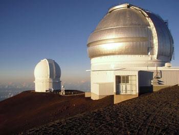 Observatories atop Mauna Kea