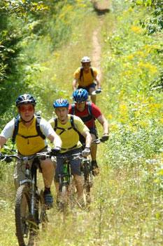 Biking at Kingdom Trails, voted 'Best Trail Network in North America' by Bike Magazine.