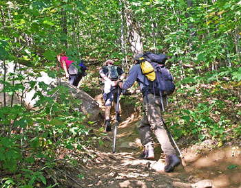 Fellow hikers on the Mount Pisgah Trail