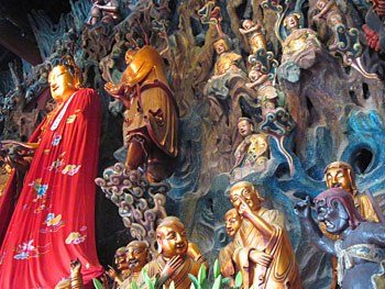 Figurines at The Jade Buddha Temple