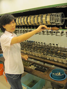 At the silk factory, you learn all about the life cycle of the silk worm.