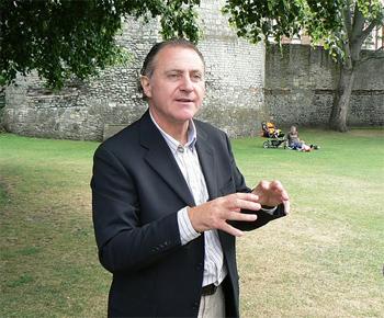 Mark Graham, the original ghost hunter of York, England. photo by Max Hartshorne.