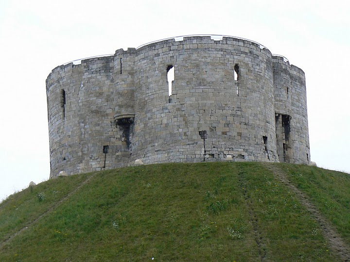Cliffords Tower, York England, Scene of a Massacre