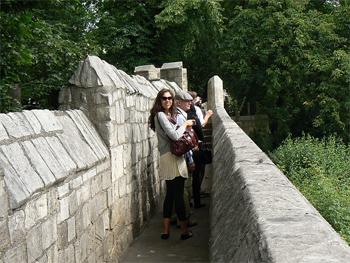 The Roman Wall in York, England.