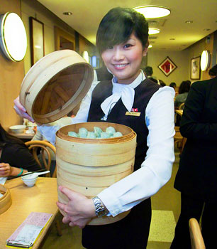 Din Tai Fung dumpling girl