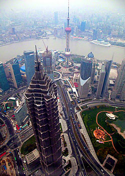 The view fron the Shanghai World Financial Center