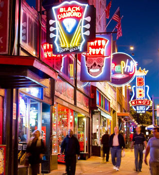 Beale Street in Memphis. Photos by Eric Lindberg.