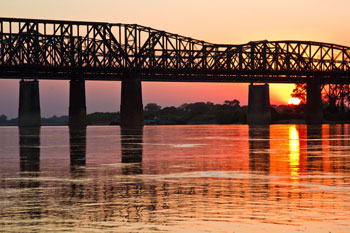 Sunset on the Mississippi