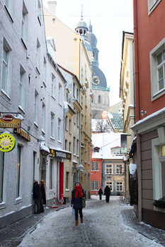 Riga's Old Town is a UNESCO World Heritage Site