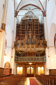 The pipe organ at Riga Cathedral
