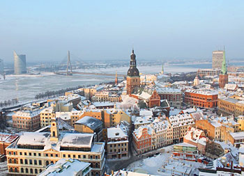 The view of Riga from St. Peter's Chuch at New Year. Olga Volobuyeva photos.